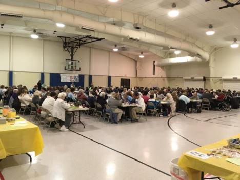 crowd at bingo event
