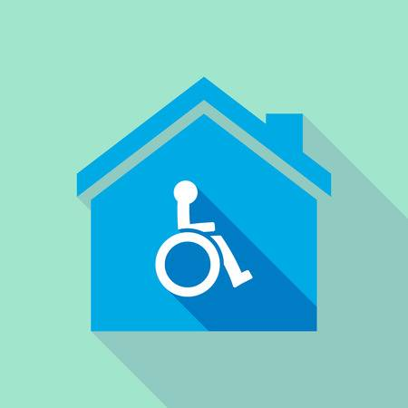 wheelchair home symbol