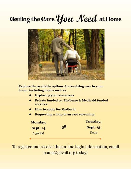 Care in your home flyer 2020